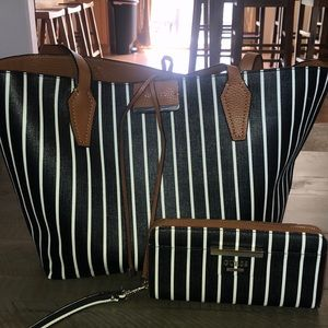 Reversible Guess tote and wallet bundle
